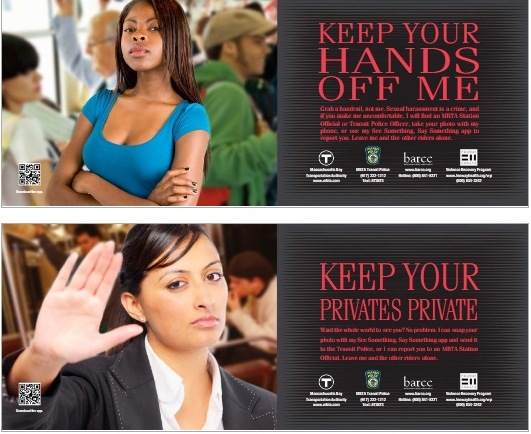 Boston anti-harassment transit ads, 2013