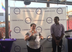 Kesha Garner and Kevin Hawkins at the Queer Review launch party