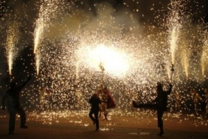 (Maria di Mario, tefl-iberia.com)  And yes, that is a bunch of people dancing under fireworks.