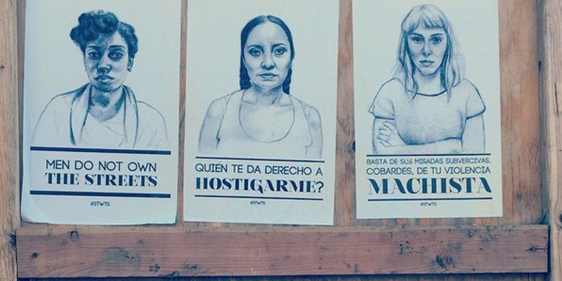 Stop telling women to smile posters in Seattle, Wa, 2015
