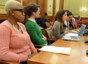 First panel of speakers (L to R): Paris Sashay, Nelle R Pierson, Holly Kearl, Jessica Raven