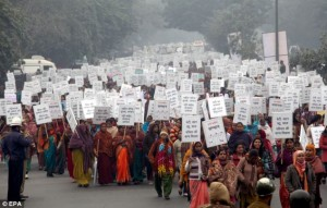 Thousands of women marched in Delhi on January 2, calling for an end to sexual violence.