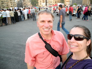Tahrir Square in Cairo with my dad, July 2012