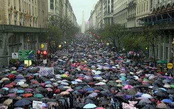 Argentinean Women March to Protest Violence Against Women