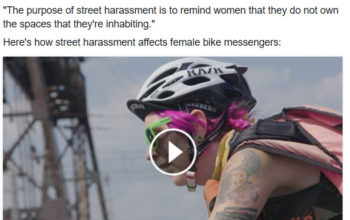 Female Bicycle Messengers Talk about Street Harassment
